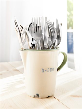 Forks in jug Stock Photo - Premium Royalty-Free, Code: 6102-07158262