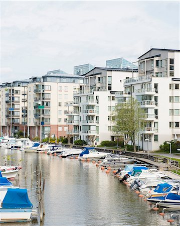 Buildings at canal, Stockholm, Sweden Stock Photo - Premium Royalty-Free, Code: 6102-07158361