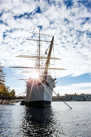 stockholm - Low angle view of Af Chapman sailing ship, Stockholm, Sweden Stock Photo - Premium Royalty-Free, Code: 6102-07158385