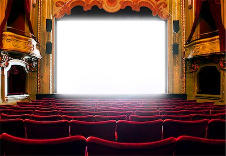 empty - Cinema screen, Stockholm, Sweden Photographie de stock - Premium Libres de Droits, Code: 6102-07521573