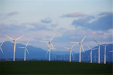 Wind turbines, Spain Stock Photo - Premium Royalty-Free, Code: 6102-07602774
