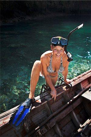 Diving woman, Thailand Stock Photo - Premium Royalty-Free, Code: 6102-07602789