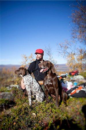 Man hunting, Nikkaluokta, Norrbotten, Lapland, Sweden Stock Photo - Premium Royalty-Free, Code: 6102-07768678
