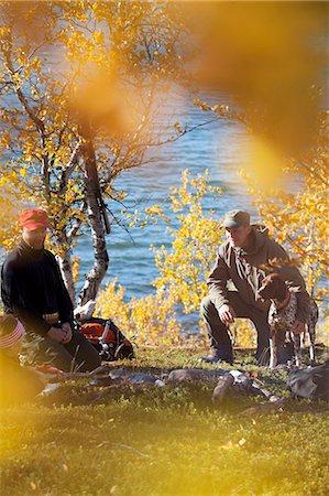 Hunters resting, Nikkaluokta, Norrbotten, Lapland, Sweden Stock Photo - Premium Royalty-Free, Code: 6102-07768682