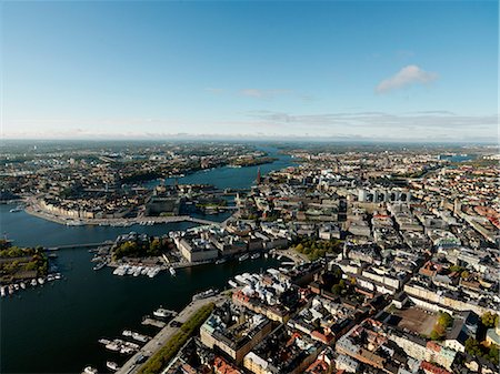 stockholm - Aerial view of Stockholm, Sweden Stock Photo - Premium Royalty-Free, Code: 6102-07768720