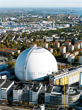 sports and hockey - View of Stockholm Globe Arena, Stockholm, Sweden Stock Photo - Premium Royalty-Free, Code: 6102-07768726
