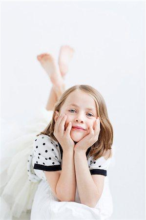 dece11 - Portrait of smiling girl. studio shot Stock Photo - Premium Royalty-Free, Code: 6102-07843230