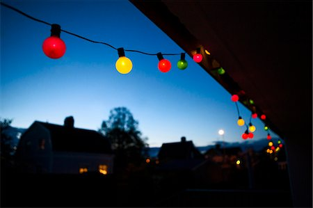 Colorful lights at dusk Stock Photo - Premium Royalty-Free, Code: 6102-07843663