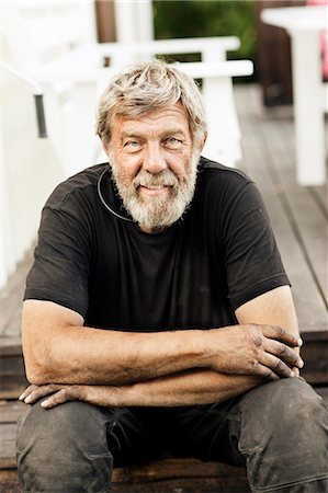 Portrait of senior man Stock Photo - Premium Royalty-Free, Code: 6102-08000652