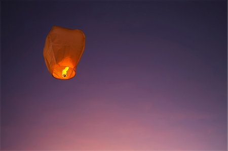 Paper lantern against sky Stock Photo - Premium Royalty-Free, Code: 6102-08000819