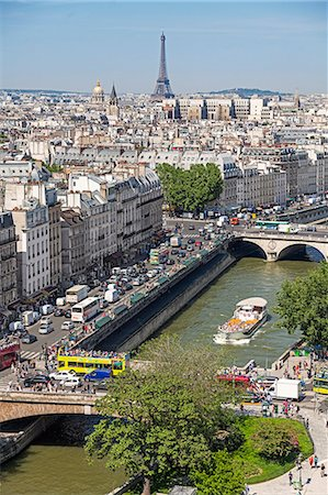 High angle view of a cityscape, Paris, France Stock Photo - Premium Royalty-Free, Code: 6102-08001280