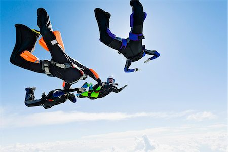 fly - Sky-divers in air Stock Photo - Premium Royalty-Free, Code: 6102-08001440