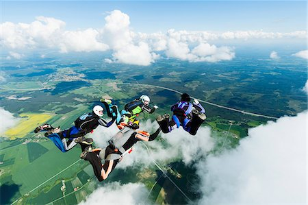 Sky-divers in air Stock Photo - Premium Royalty-Free, Code: 6102-08001437