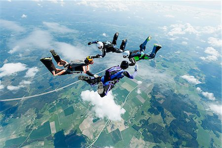 fly - Sky-divers in air Stock Photo - Premium Royalty-Free, Code: 6102-08001438