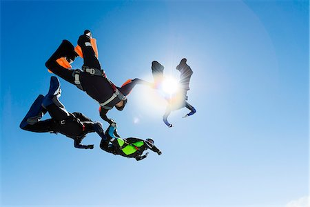fly - Sky-divers in air Stock Photo - Premium Royalty-Free, Code: 6102-08001439