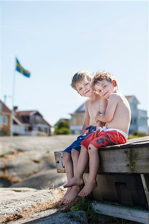 Boys sitting  together Stock Photo - Premium Royalty-Free, Code: 6102-08271046