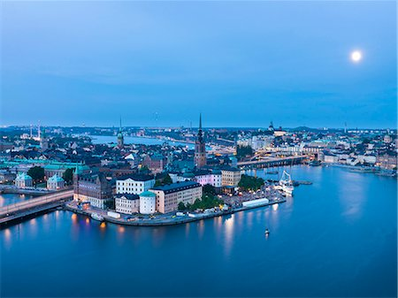 stockholm - City at sea at dusk Stock Photo - Premium Royalty-Free, Code: 6102-08271184