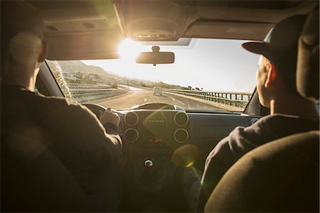 forward - Father with son driving in car Stock Photo - Premium Royalty-Free, Code: 6102-08271778