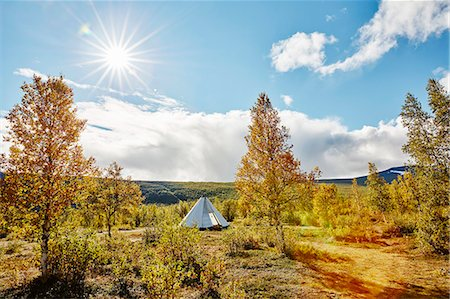 Tent in scenic landscape Stock Photo - Premium Royalty-Free, Code: 6102-08384436