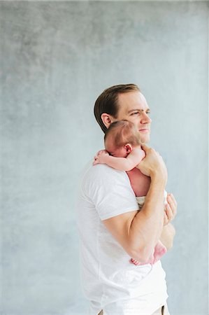Father with newborn baby Stock Photo - Premium Royalty-Free, Code: 6102-08566509
