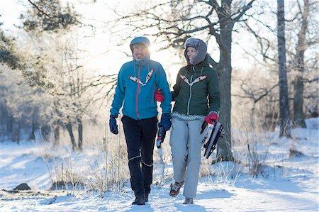 Couple walking Stock Photo - Premium Royalty-Free, Code: 6102-08520960