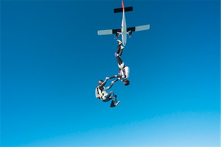 Skydivers Stock Photo - Premium Royalty-Free, Code: 6102-08726896