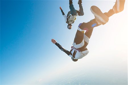 Skydivers Stock Photo - Premium Royalty-Free, Code: 6102-08726900