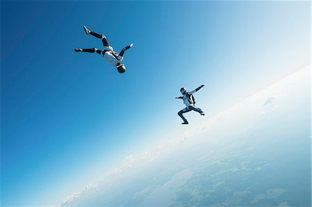 Skydivers Stock Photo - Premium Royalty-Free, Code: 6102-08726901