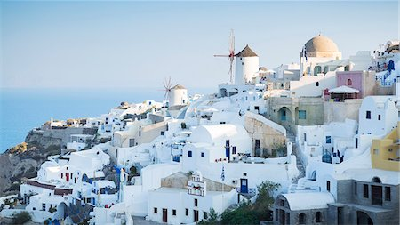 Coastal Greek town Stock Photo - Premium Royalty-Free, Code: 6102-08885129