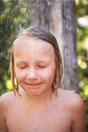 preteen shower pic - Thailand, boy taking shower Stock Photo - Premium Royalty-Free, Code: 6102-08800099