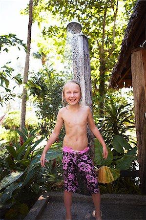 preteen shower pic - Thailand, boy taking shower Stock Photo - Premium Royalty-Free, Code: 6102-08800100