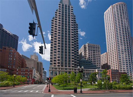 Low angle view of buildings in a city, Boston, Massachusetts, USA Stock Photo - Premium Royalty-Free, Code: 6105-05395927