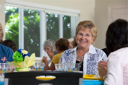 Senior women at a luncheon Stock Photo - Premium Royalty-Free, Code: 6105-05397133