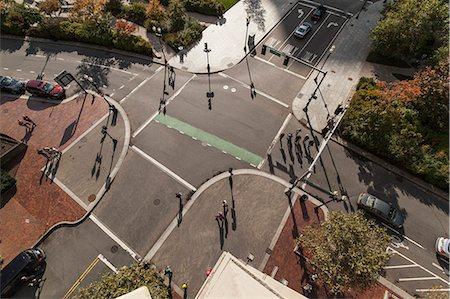 square - People crossing road, Atlantic Avenue, Boston, Massachusetts, USA Stock Photo - Premium Royalty-Free, Code: 6105-06703204