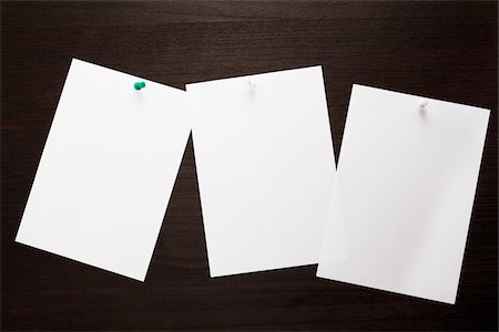 blank concept,three memo pasted on the wall Stock Photo - Premium Royalty-Free, Code: 6106-05393621