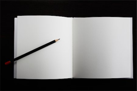 page - blank concept,pencil and the open book Stock Photo - Premium Royalty-Free, Code: 6106-05393625