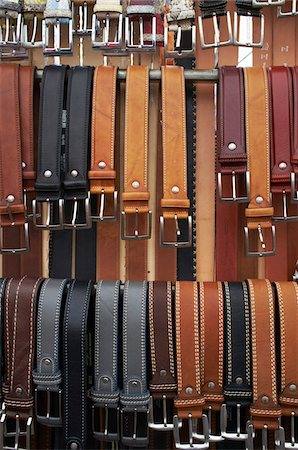 Leather belts for sale to tourists in limone Stock Photo - Premium Royalty-Free, Code: 6106-05394046