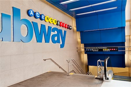 Entrance to subway station at 42nd street Stock Photo - Premium Royalty-Free, Code: 6106-05394162