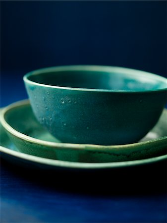 Blue dinnerware Stock Photo - Premium Royalty-Free, Code: 6106-05394932