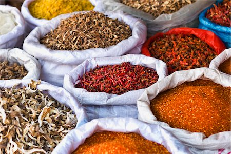 supermarket not people - Spices and Dried Food at Chinese Market Stock Photo - Premium Royalty-Free, Code: 6106-05395292