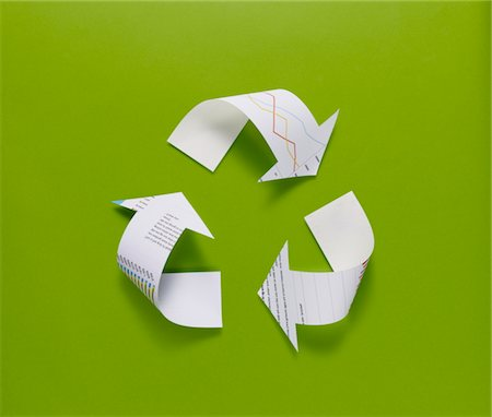 symbol - The recycling mark made from the data of paper Stock Photo - Premium Royalty-Free, Code: 6106-05395830