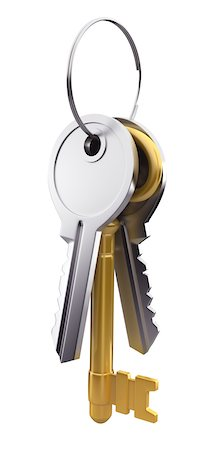 Bunch of silver and gold keys Stock Photo - Premium Royalty-Free, Code: 6106-05440652
