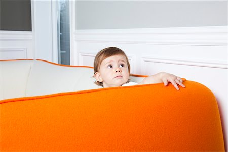 toddler thinking Stock Photo - Premium Royalty-Free, Code: 6106-05442442