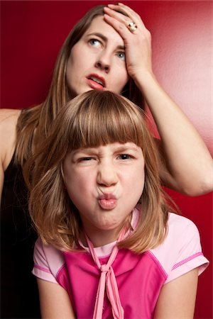 pucker - Stressed Mom with Bratty Child Stock Photo - Premium Royalty-Free, Code: 6106-05442429