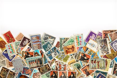 stamped - Postage stamps collection Stock Photo - Premium Royalty-Free, Code: 6106-05445539