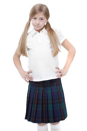school girl uniforms - Annoyed schoolgirl. Stock Photo - Premium Royalty-Free, Code: 6106-05446338