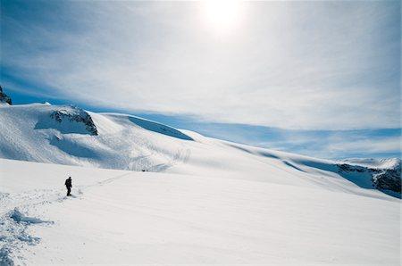 panoramic winter scene - La Grave Ski Resort Stock Photo - Premium Royalty-Free, Code: 6106-05448037