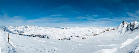 panoramic winter scene - La Grave Mountain Panorama Stock Photo - Premium Royalty-Free, Code: 6106-05448035