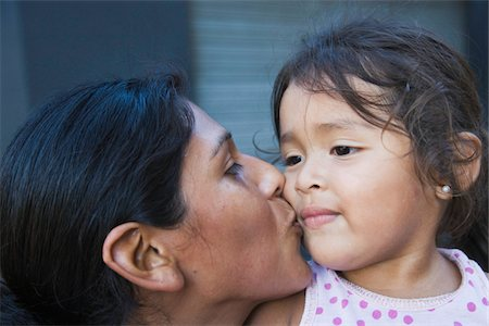 Mother and daughter (2-4) close-up, Buenos Aires, Argentina Stock Photo - Premium Royalty-Free, Code: 6106-05464141
