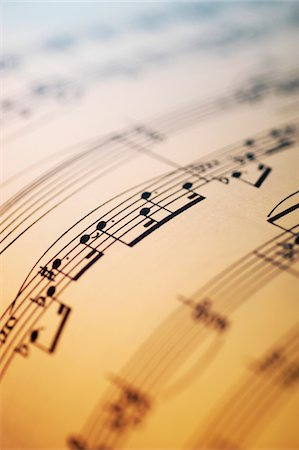 sheet music background - Close-up of sheet music Stock Photo - Premium Royalty-Free, Code: 6106-05466288